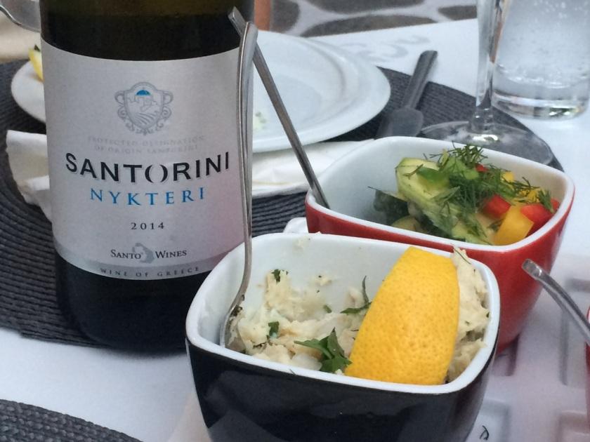 Santo Wines, Santorini PDO, Nykteri 2014 at Soso restaurant, Naoussa, Paros
