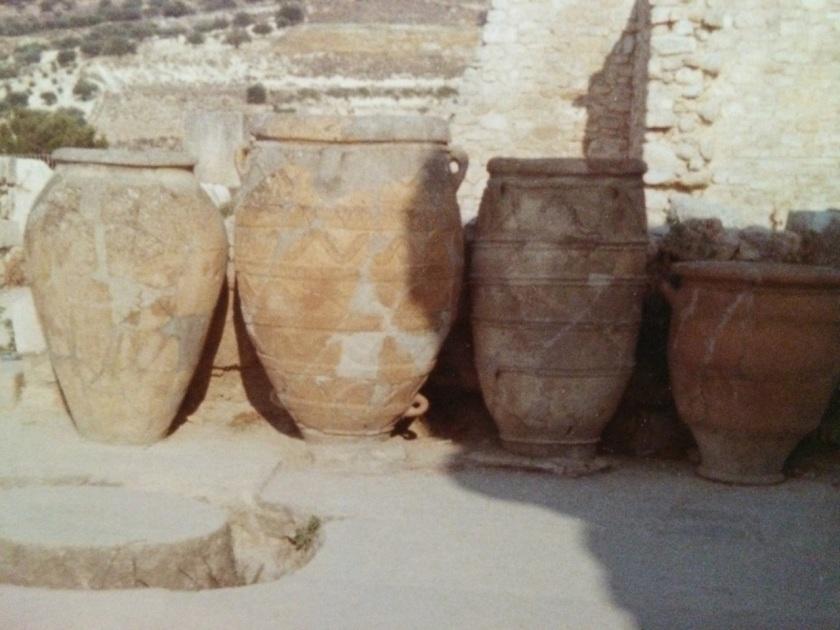 Pithoi at Knossos, Crete