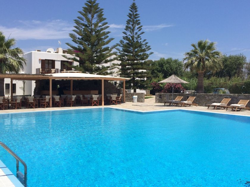 The pool at Hotel Kouros, Kolymbithres, Paros