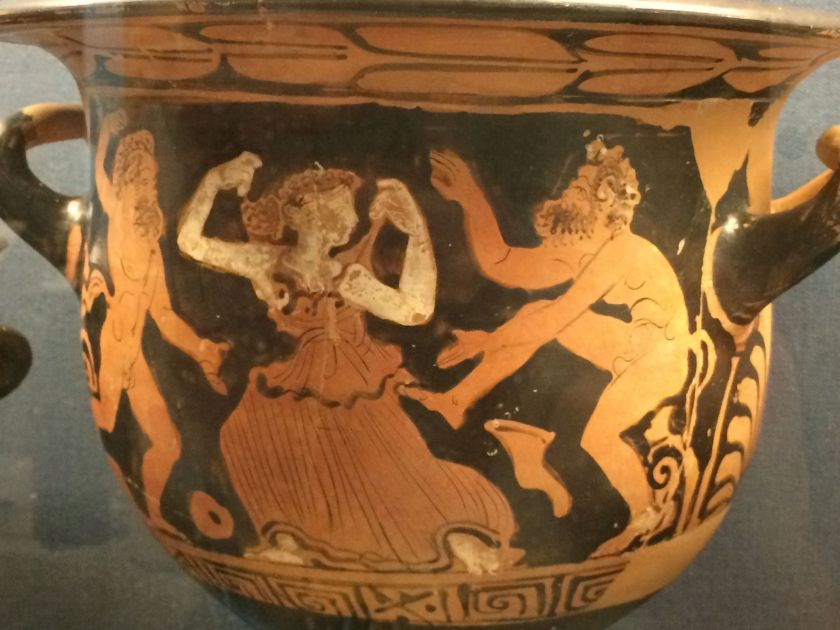 Red figure pottery from the Benaki Museum, Athens