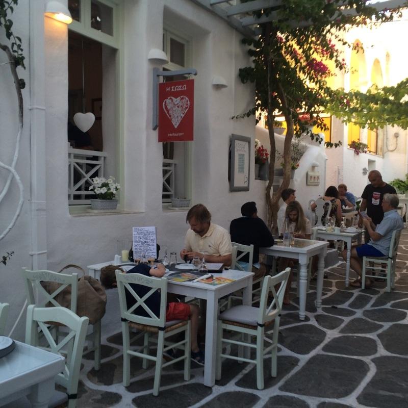 Soso restaurant, Naoussa, Paros