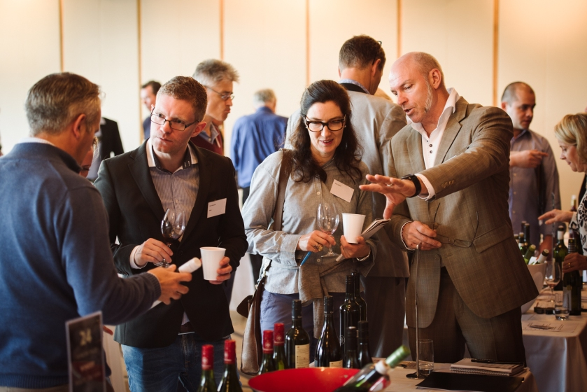 Mike Brown, Gemtree Wines at Wine Australia's Annual tasting, Stockholm. Image courtesy of Wine Australia.