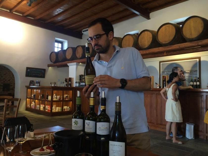 Savvas Moraitis at Moraitis Winery, Paros
